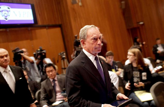 On alert: New York Mayor Michael Bloomberg and Commissioner of the New York City Police Department Raymond Kelly enter a news conference to discuss a new terrorist threat