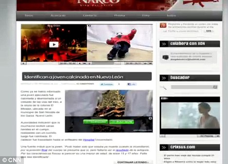 Blog del Narco (pictured) is a site that only posts news in relation to Mexican drug violence
