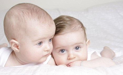 Cute: Twins Luca and Rose weighed just 3lbs each at birth, which took place just 24 weeks into the pregnancy after Renee was diagnosed with pre-eclampsia