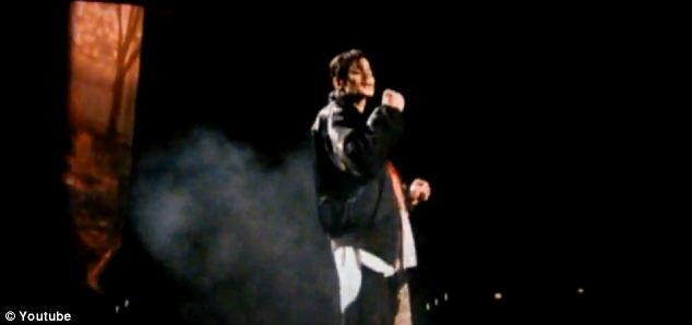 Emotional: The prosecution showed the court Jackson's last performance, a rehearsal of Earth Song, which appeared to bring his mother to tears