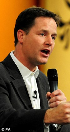 Deputy Prime Minister and leader of the Liberal Democrats Nick Clegg is an avowed Europhile