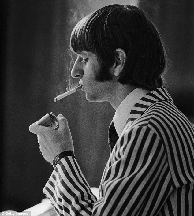 Light moment: Ringo Starr relaxes at a hotel in Germany