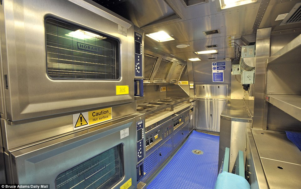 Feeding the crew: The submarine's kitchen will be staffed by five chefs providing food 24-hours a day for her officers and crew