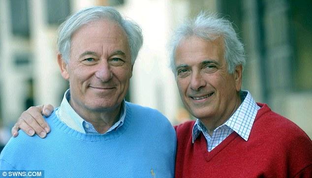 Reunidos: Franklin Geller (izquierda) y Michael Maranian fotografiados juntos grasa de su primera reunión en 67 años