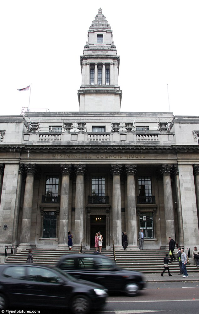 The venue: Marylebone Town Hall in London where Paul McCartney will Marry Nancy Shevell on Sunday