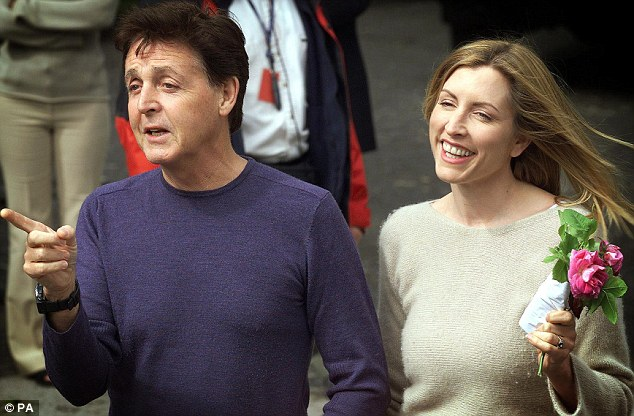 Over: Sir Paul McCartney and Heather Mills outside Castle Leslie, in Glaslough, County Monaghan, Ireland, ahead of their marriage in 2002