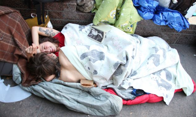Sex and drugs on tap, who says it's not a political partaaay? Occupy Wall Street protesters make love as well as class war
