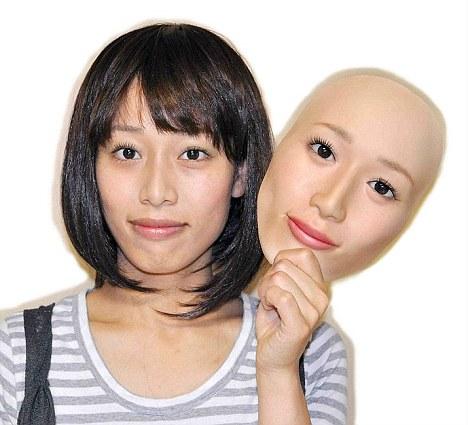 Image result for lifelike asian woman vinyl full head mask