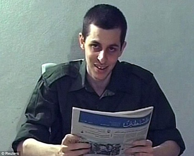 Verge of freedom: Captured Israeli soldier Gilad Shalit was last seen looking gaunt in this video released by Hamas in October 2009. He is due to be released from captivity 'within days'