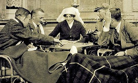 Lady of the house: Lady Almina would would read to the soldiers, chat to them and tell them how brave they were