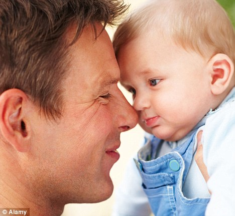 Don't wait too long: Male fertility declines with age, researchers have warned (picture posed by model)