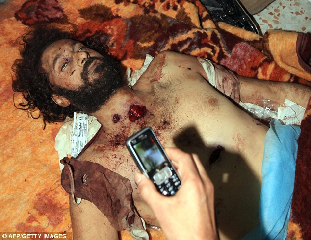 Dead: Gaddafi's son Mutassim was also killed in a firefight in Sirte