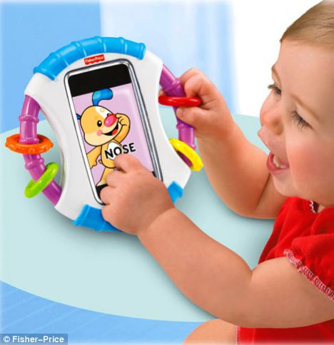 Toy: Fisher Price says its 'Apptivity' case has been designed for parents that want to share their iPhones with their toddlers