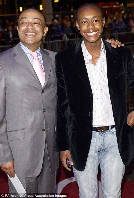 Lord Boateng and Benjamin at the Screen Nation Film & TV Awards in 2003. The court heard when the woman fell asleep on a sofa, drunk on champagne and vodka, Benjamin Boateng climbed on top of her and yanked down her underwear