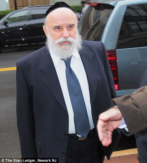 Convicted trafficker: Levy Izhak Rosenbaum , 60, before entering the courthouse in Trenton, New Jersey, on Thursday