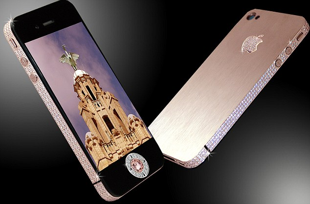 The world's most expensive phone: Stuart Hughes' gold and diamond take on iPhone, also priced at £5,000,000