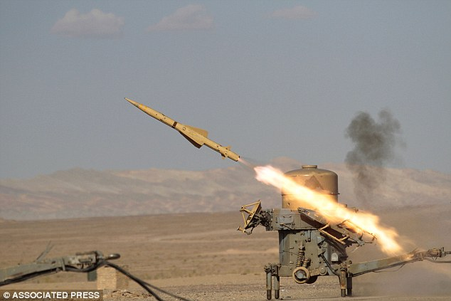 Show of force: An Iranian Rapier missile. President Mahmoud Ahmadinejad has vowed to destroy Israel