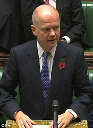 Foreign Secretary William Hague, speaking today in the House of Commons, London, warned the UN report into Iran's nuclear ambitions could spark a regional arms race