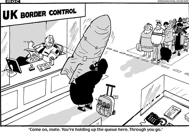 Mac cartoon on UK Border Control