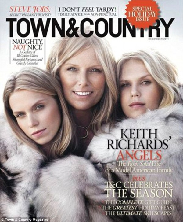 Rolling Stone Keith Richards' wife Patti Hansen poses with ...