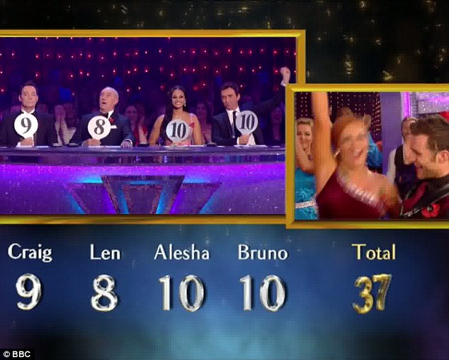 Triumphant: Harry and Aliona celebrate their victory
