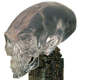Indiana Jones And The Kingdom Of The Crystal Skull featured a conical alien skull similar to the one found in Peru