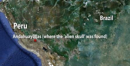 Onde o crânio foi encontrado