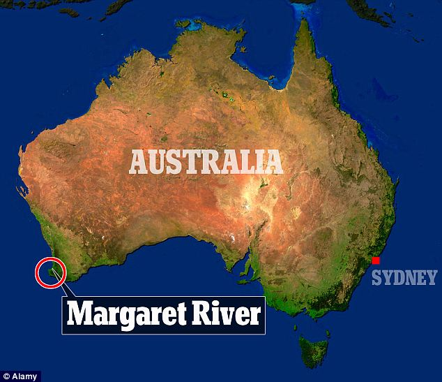 Image result for margaret river australia map