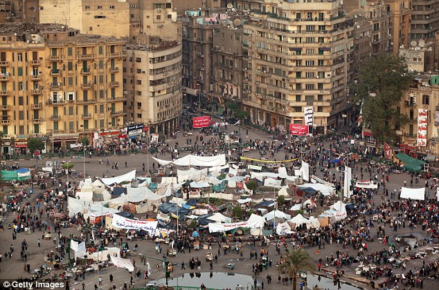 Election day calm: Tahrir Square in Cairo is occupied by only a few hundred protesters