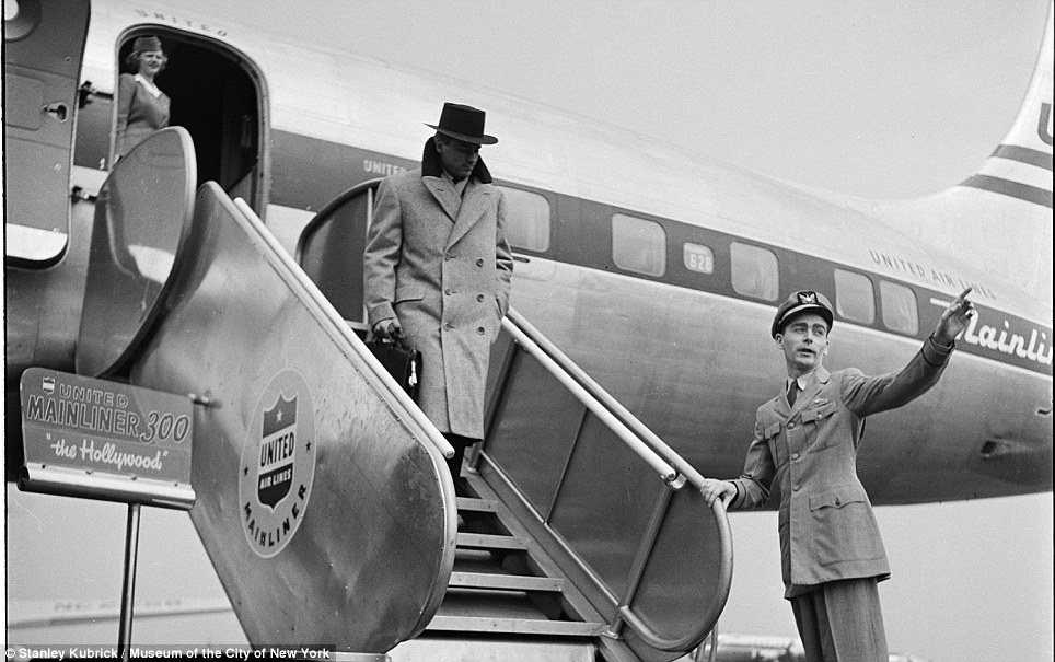 A distinguished-looking man arrives in New York for a men's fashion show in 1948