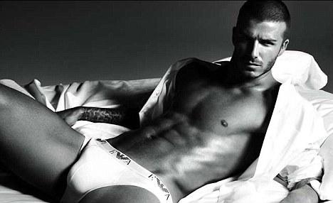 Goldenballs: David Beckham's Armani ad caused a stir when it was unveiled
