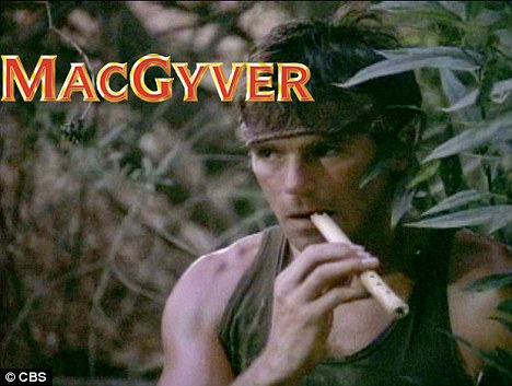 Problem solver: On his famed action adventure series which ran from 1985 - 1995, MacGyver was known to concoct clever solutions to solve the impossible