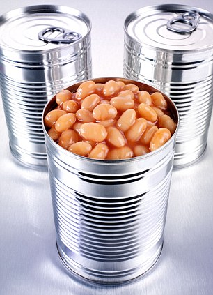 Shortages: Canned foods are among the items being stockpiled