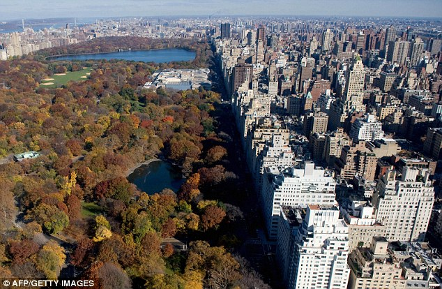 Nice garden: The apartment has an enviable view over Central Park