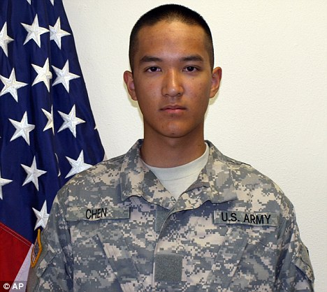 Death: Private Danny Chen, 19, of New York, was found dead in a guard tower at Combat Outpost Palace on October 3 after apparently committing suicide