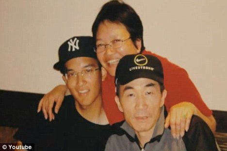 Remembered: Danny Chen is pictured with his family in an emotional video which features his friends and relatives asking: 'What happened to Danny?'