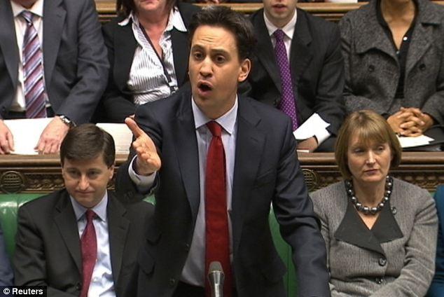 Poder: Primer Ministro de Gran Bretaña es el balbuceo líder del Partido Laborista, Ed Miliband,
