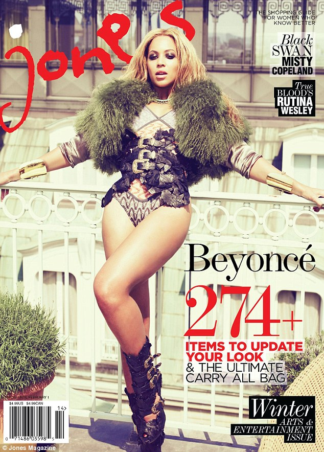 Baring all: Jones magazine features Beyoncé on the cover of its arts and entertainment issue, recognising the contributions she has made to the industry
