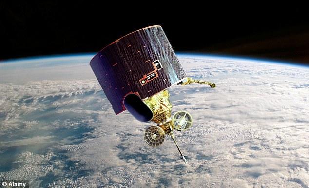 La esfera puede ser un tanque de hidracina utilizado en satélites como el de la foto