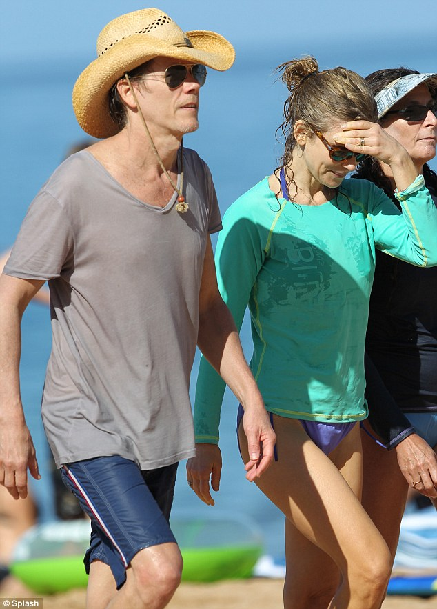 Kevin Bacon and his wife of 23 years Kyra Sedgewick enjoy ...
