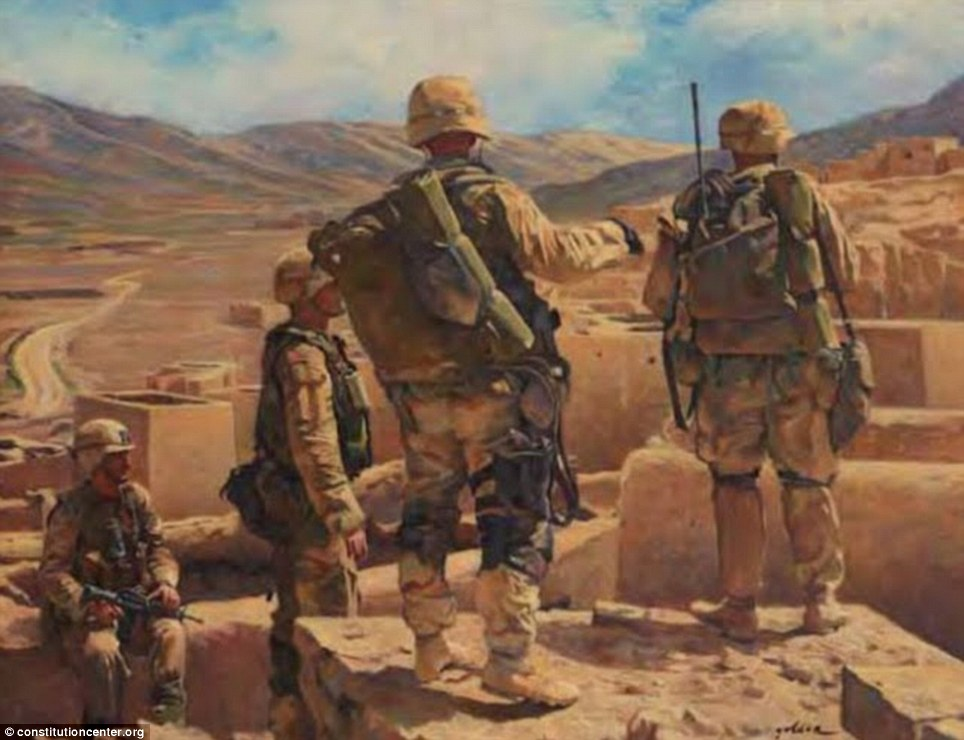 Dramatic Artwork By US Soldiers Shows A Century Of War