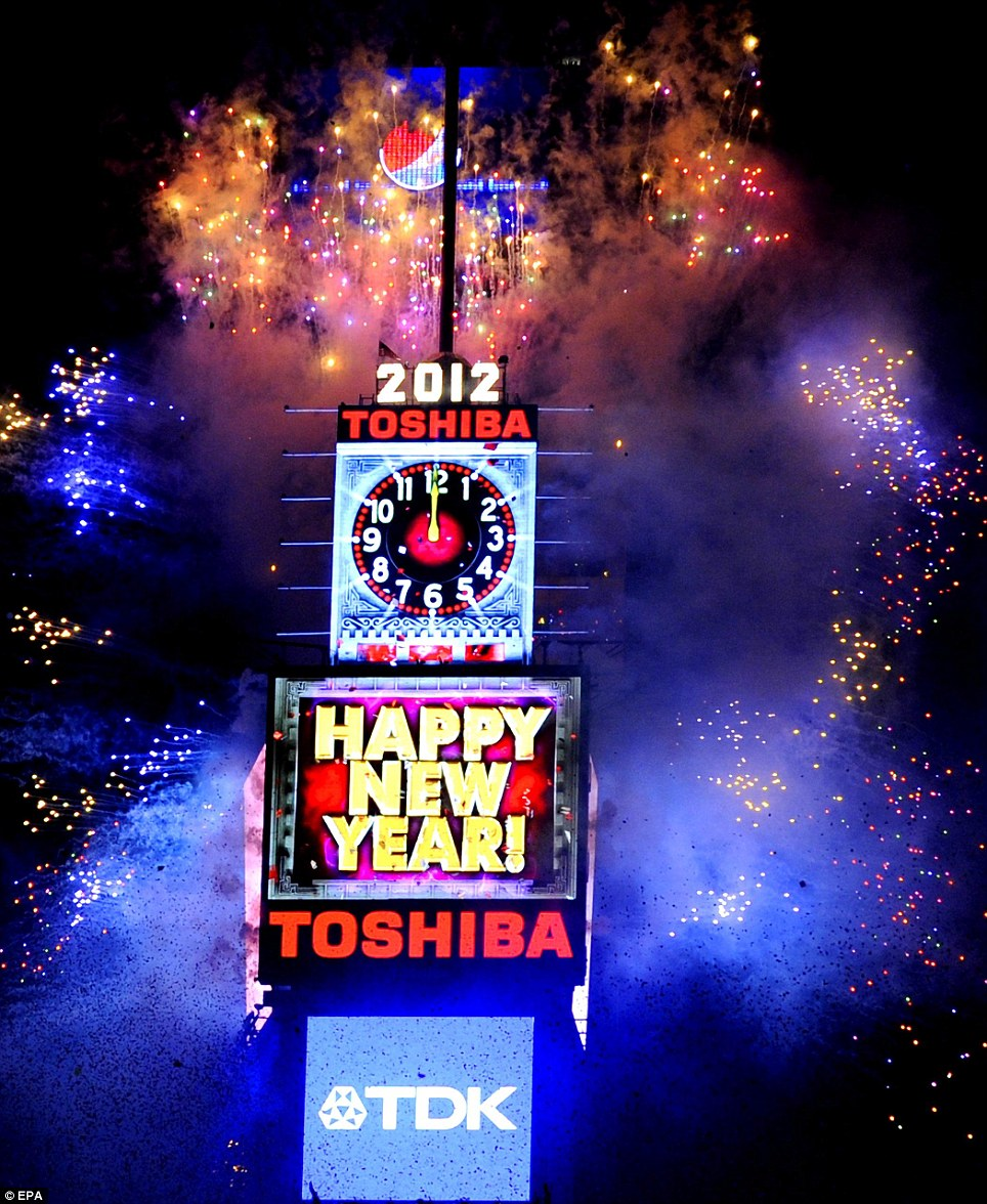 times square new year screensavers