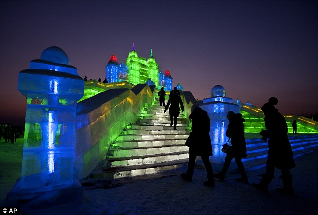 Rapid growth: The Harbin Snow and Ice Festival has grown in magnitude in recent years thanks to the growing economy in China