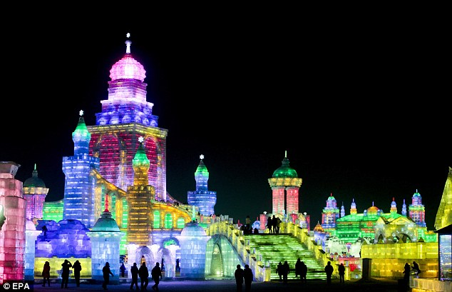 Colourful ice creations: The spectacular sights at the Harbin Snow and Ice Festival in China