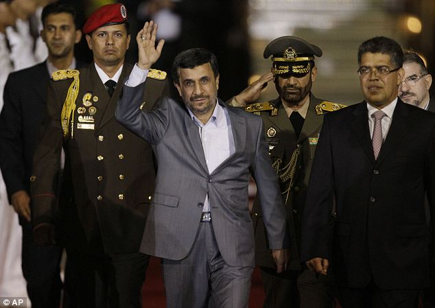 Leader: Controversial president Mahmoud Ahmadinejad is in Venezuela today, from where he will travel to Nicaragua, Cuba and Ecuador in hopes of highlighting Iran's close South American allies