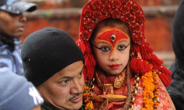 Extraordinary life of child Kumari virgin goddess