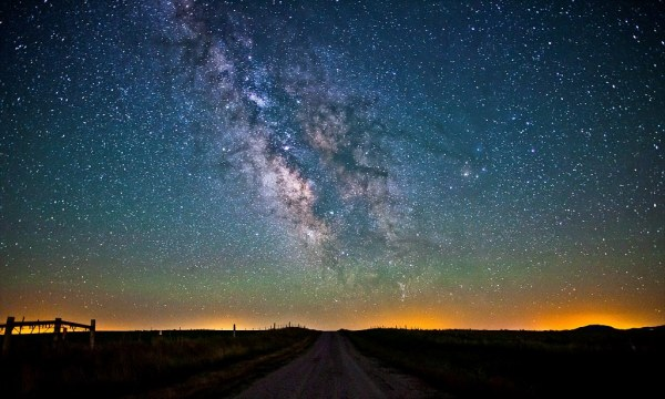 Milky Way is pure white like a snowflake say