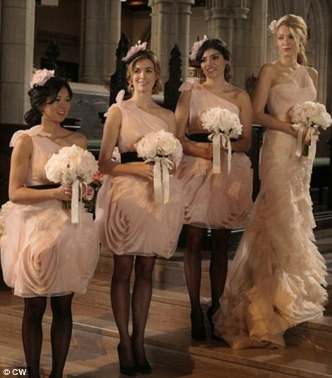 Pretty maid: Blake Lively as Serena van der woodsen wears Vera Wang