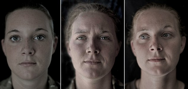 Visible: Private Becky Hitchcock reflects the strain of service in Afghanistan