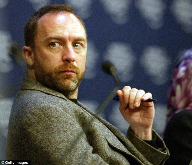 Protesting: Wikipedia founder Jimmy Wales said an estimated 100 million visitors to be affected by a Wikipedia black out